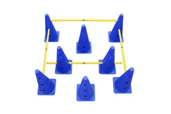 Get Out! Hurdle Cone Set w/Training Cones Agility Poles – Adjustable Agility Ladder Speed Training Equipment Kids