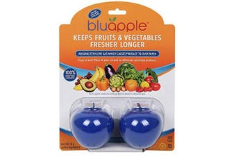 Bluapple Produce Freshness Extending Solution to Keep Fruits and Vegetables Fresher Longer One for Each Crisper Drawer
