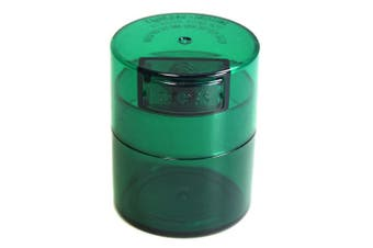 (Green Tint) - Minivac - 10g to 30 grammes Airtight Multi-Use Vacuum Seal Portable Storage Container for Dry Goods, Food, and Herbs - Green Tint