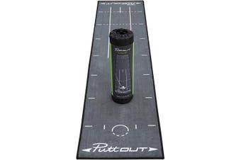 (Grey, Putting Mat) - PuttOUT Pro Golf Putting Mat