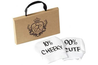 Spoilt Rotten - Baby Gift Tote Gift Bag - Cute & Cheeky 100% Cotton Baby Mittens Baby Gloves