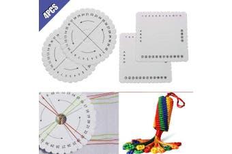 Comidox Round Square Kumihimo Beading Cord Disc Disc Braiding Plate Handmade DIY Bracelet Braided Weaving Board 4Pcs