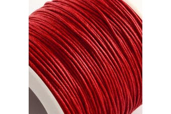 (1mm, Red) - Craftdady 1mm 100 Yards Jewellery Making Beading Crafting Macramé Waxed Cotton Cord Thread Rope String (Red)