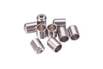 (6.5x5mm) - ARRICRAFT 100pcs Stainless Steel Column End Caps Cord Terminators for Leather Cord Jewellery Makig, 6.5x5mm