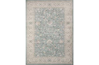 (0.6m x 0.9m) - Momeni Rugs ZIEGLZE-03BLU2030 Ziegler Collection, Traditional Area Rug, 0.6m x 0.9m, Blue