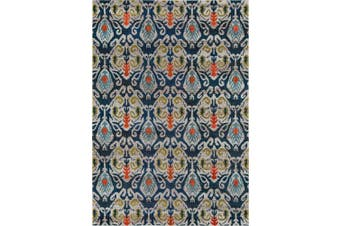 (0.6m x 0.9m) - Momeni Rugs CASABCAS-2NVY2030 Casa Collection, Soft Blend Contemporary Area Rug, 0.6m x 0.9m, Navy Blue