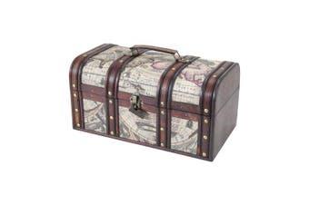 HMF 6410 Storage Box 159 Treasure Chest Treasure Chest Wooden Box Cuba (38 x 20 x 19 cm