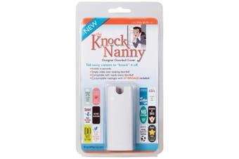 (1 Pack) - Knock Nanny Door Bell Cover, White