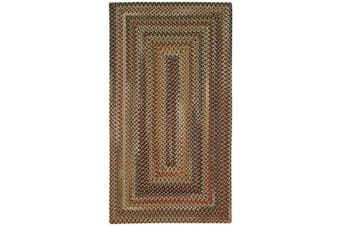 (0.6m x 1.2m) - Manchester Brown Hues Multi Rug Rug Size: Concentric 0.6m x 1.2m