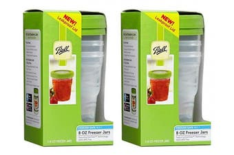 (2) - Ball Plastic Pint Freezer Jars with Snap-On Lids | 240mls | 3-Count per Pack (2-Pack)