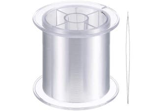 (0.25mm) - Blulu 500 m Clear Nylon Invisible Thread for The Hanging Ornaments and Sew Hobby, Strong and Invisible,with Bead Needle (0.25mm)
