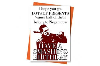 Funny Birthday Card The Walking Dead Card Negan Card - Half This Card Belongs to Negan Greeting Card