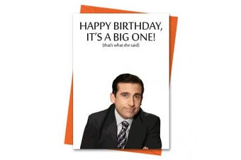 Funny Birthday Card The Office US Michael Scott - That's What She Said Office TV Series Greeting Card