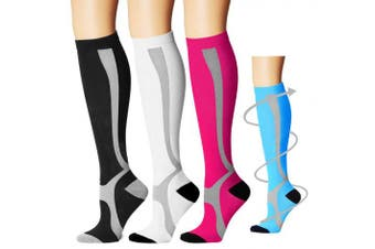 (Large/X-Large, Assort11) - Bluemaple Compression Socks,(3or7pair) for Women & Men - Best for Running, Athletic Sports, Crossfit, Flight Travel -Maternity Pregnancy, Shin Splints - Below Knee High