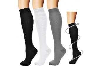 (Large/X-Large, Assort9) - Bluemaple Compression Socks,(3or7pair) for Women & Men - Best for Running, Athletic Sports, Crossfit, Flight Travel -Maternity Pregnancy, Shin Splints - Below Knee High