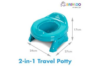 (Blue) - Babyloo Multipurpose 2 in1 Travel Potty (Blue)