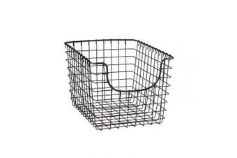 (Small, Industrial Gray) - Spectrum Diversified Scoop Storage Basket, Small, Industrial Grey