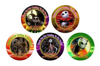 12 Nightmare Before Christmas Birthday Party Favour Stickers (Bags Not Included) #1