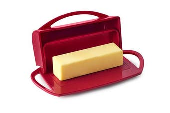 (Red) - Better Dish Flip-Top Butter Dish (Red)