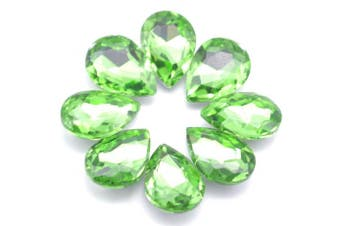 (green) - Catotrem Glass Teardrop Crystal Resin Rhinestone Pointback Faceted Jewellery Making DIY Craft(80pcs-Green)