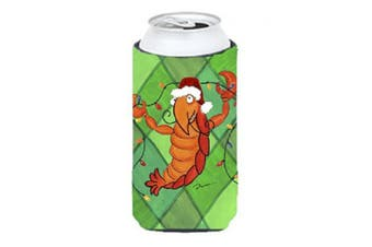 (tallboy) - Crawfish Christmas Lights Tall Boy Beverage Insulator Beverage Insulator Hugger