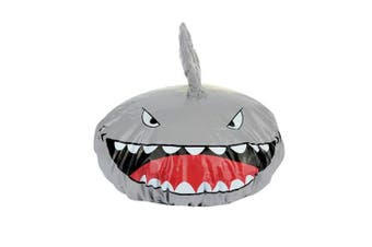 Funny Kids Shower Cap Novelty Shark Shape Shower Hat Waterproof Elastic Bath Cap Hair Cover Protect Hat - Keep Hair Dry