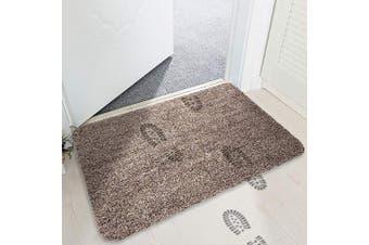 (47x75 cm, Camel & White) - mayshine Non-slip Doormat Cotton Door Mat Mud Dirt Trapper Mats Entrance Rug Shoes Scraper Floor Indoor - 45x75cm Camel & White