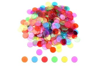 Coopay 300 Pieces Transparent Colour Counters Plastic Math Counters Game Counting Bingo Chips Plastic Markers