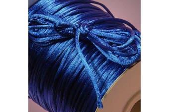 (Royal) - Ben Collection 2mm X 100 Yard Rattail Satin Nylon Trim Cord Chinese Knot (Royal)