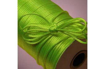 (Apple) - Ben Collection 2mm X 100 Yard Rattail Satin Nylon Trim Cord Chinese Knot (Apple)