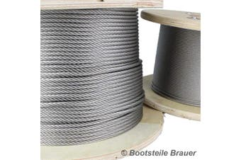 5 Metres Medium-soft 7 x 7 Stainless Steel Wire Rope with 2 mm Diameter, Stainless Steel Wire