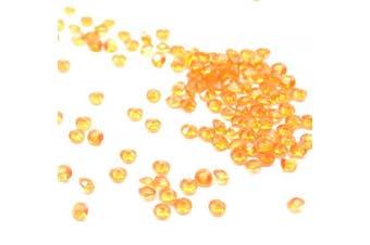 (Orange) - Catotrem DIY Set Table Scatter Confetti Acrylic Diamond Stones Round Beads for Wedding, Vase Beads, Bridal Shower Decorations 4.5mm 5000Pcs(Orange)
