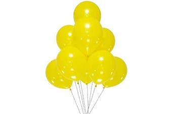 (12 Inch / 30 cm, Yellow) - AZOWA 100 Pcs Yellow Balloons 30cm Party Latex Balloon