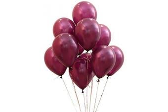(12 Inch / 30 cm, Burgundy) - AZOWA Burgundy Balloons 30cm Pack of 100 Maroon Latex Balloon