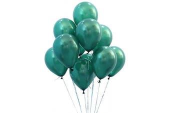 (12 Inch / 30 cm, Turquoise) - AZOWA Turquoise Balloons 30cm 100 Pcs Latex Balloon