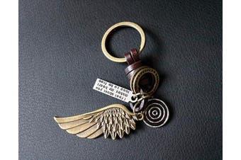 (Angel Wing) - AuPra Guardian Angel Wing KeyRing Easter Gift | Women & Men Leather New Home Vintage KeyChain | Mum & Dad Novelty Friendship Charm Key Ring Present | Girl & Boy Cute Best Friend Mini Pendant