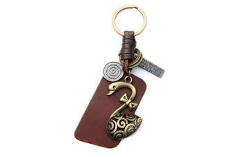 (Swan) - AuPra Swan Red Leather KeyRing Gift Women & Men Best Friend Home Bird KeyChain Mum & Dad Teacher Handbag Charm Key Ring Girl & Boy Car Pendant