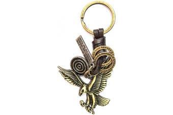 (Eagle) - AuPra Eagle Leather KeyRing Gift Women & Men Best Friend Home Bird KeyChain Mum & Dad Teacher Handbag Charm Key Ring Girl & Boy Car Pendant