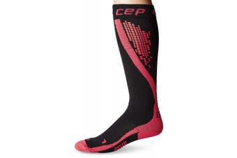 (Size V, Black/Pink) - CEP Progressive+ Nighttech Compression Socks, Black/Pink, Men, Size 5