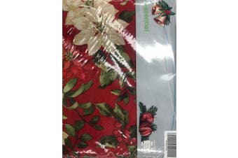 Essential Collection Poinsettia Tablecloth 130 x180 cm Seats 4-6