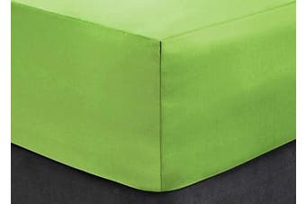 """(Small Double 1.2m, Green) - Extra Deep Fitted Sheets 16""""/40CM Deep, Small Double 1.2m - Green"""
