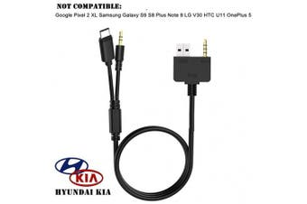 KIA for Hyundai Type C 3.5mm Aux Cable, USB C Car Music Audio Charger Adapter, Compatible with Huawei, Motorola Moto Z, LeEco Le S3/2 Pro, Xiaomi for KIA for Hyundai