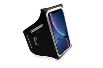 """(6.1"""" - iPhone XR) - RevereSport Armband for iPhone XR. Lightweight Running Armband with Extra Pockets for Keys, Cash and Bank Cards. Phone Arm Holder for Sports, Gym Workouts and Exercise"""