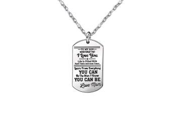 Gifts for Son - Silver Long Chain Necklaces Stainless Steel,Graduation Gift,Birthday Gift for Kids