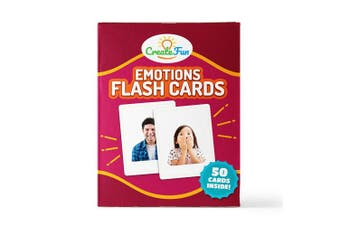 (Emotions) - CreateFun Feelings and Emotions Flash Cards | 50 Emotion Development Educational Photo Cards | 7 Starter Learning Games for Your Classroom, Speech Therapy Materials and ESL Teaching Materials