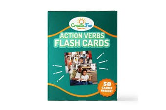 (Verbs Vol 1) - Action Verbs Flash Cards - 50 Motion Language Builder Educational Photo Cards - with 6 Starter Teaching Activities for Parents, Classrooms, Montessori Materials and Speech Therapy Materials