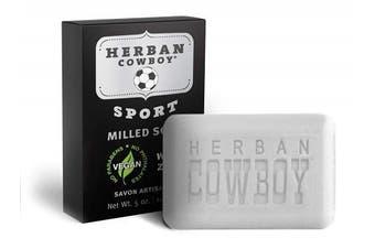 (Sport) - HERBAN COWBOY Milled Bar Soap SPORT – 150ml | Men's Bar Soap | No Parabens, No Phthalates & Certified Vegan
