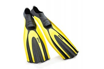 (3.5-4.5, Yellow) - Mares Superchannel Full Foot Scuba Fins