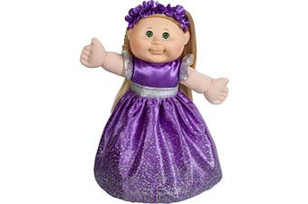 Cabbage Patch Doll - 2018 Holiday Edition - Blonde Hair Green Eyes, Purple Dress, 36cm