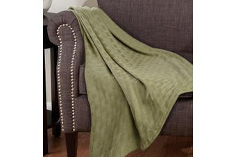 (Twin, Taupe) - Superior 100% Cotton Thermal Blanket, Soft and Breathable Cotton for All Seasons, Bed Blanket and Oversized Throw Blanket with Luxurious Basket Weave Pattern - Twin Size, Taupe